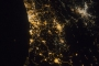 Eastern Mediterranean Coastline at Night