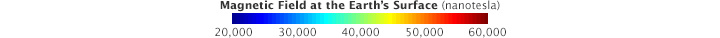 Color bar for Measuring Earth's Magnetism