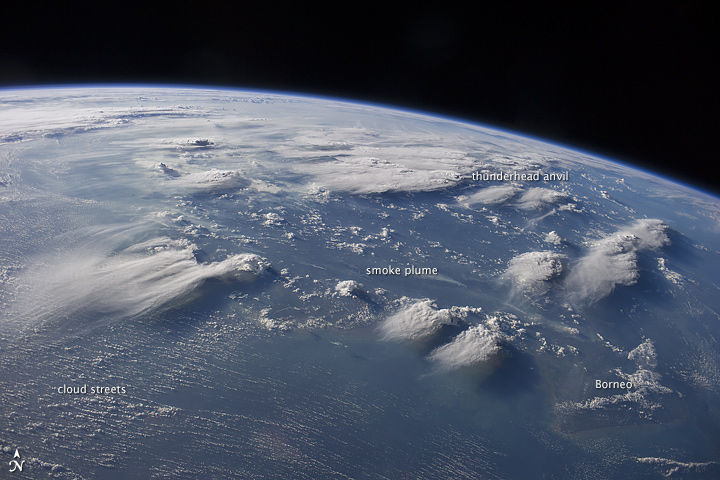 Thunderstorms over Borneo