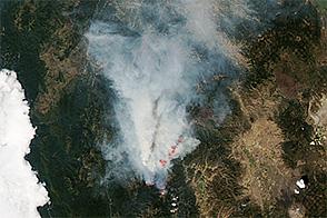 Happy Camp Complex Fire, California