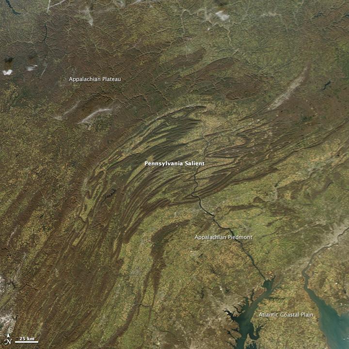 Below the Bend in the Appalachians