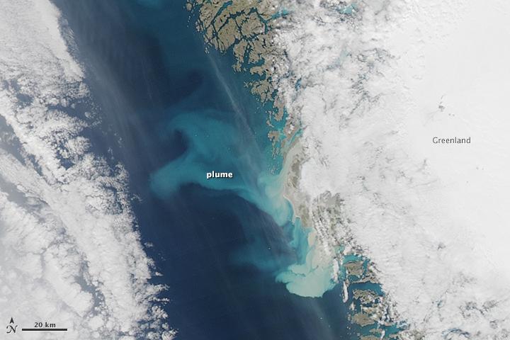 Sediment Plumes Around Greenland
