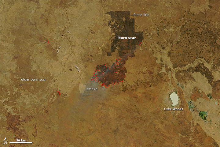 Expanding Burn Scar in Northern Territory