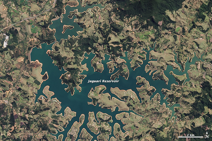 Drought Shrinking São  Paulo Reservoirs