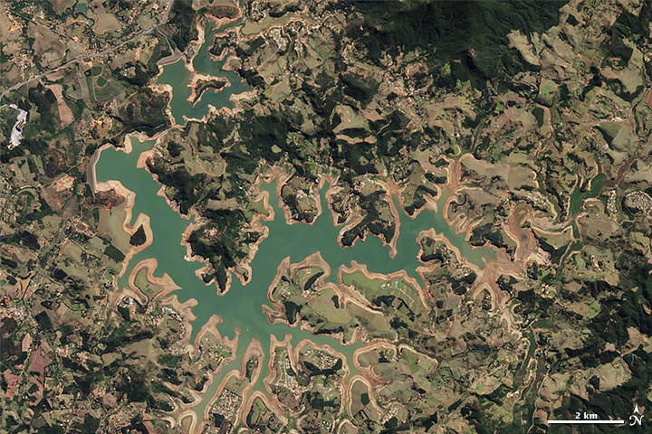Drought Shrinking Sao Paulo Reservoirs