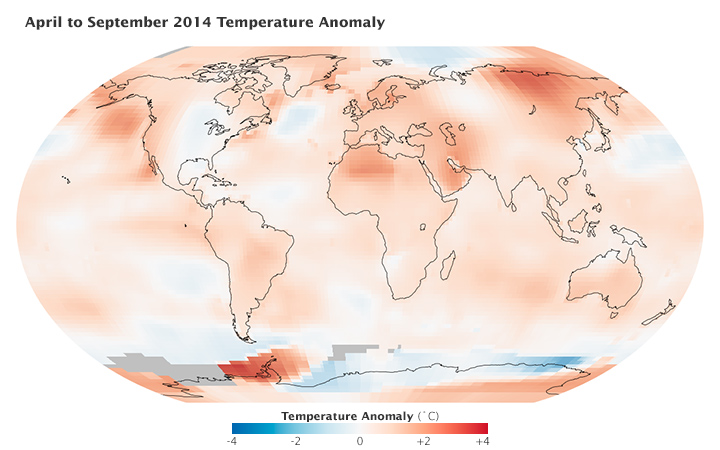 Rising Temperatures: A Month Versus a Decade