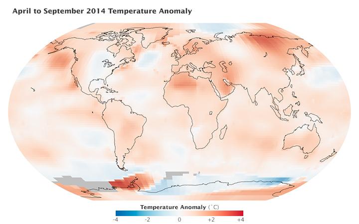 Rising Temperatures: A Month Versus a Decade