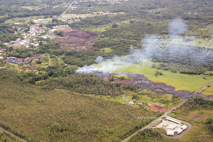 Kilauea Lava Flow Reaches Hawaiian Town - related image preview