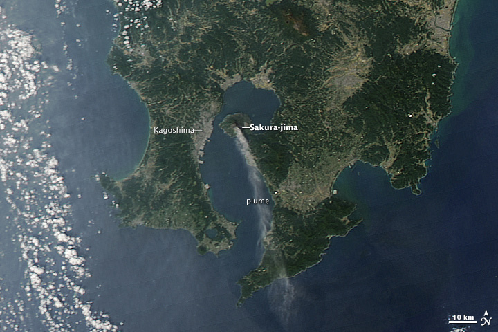 Activity at Sakura-jima Volcano