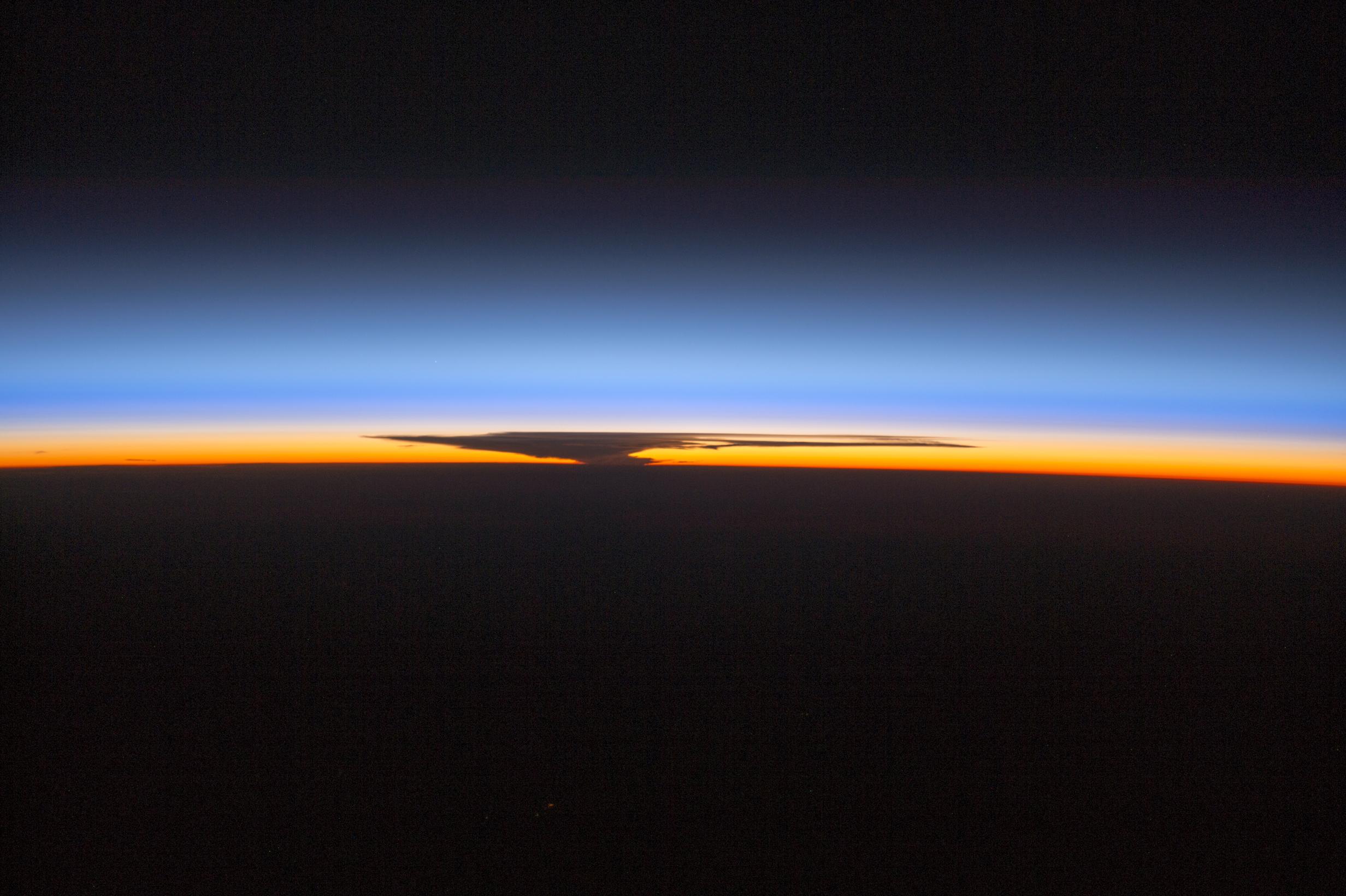 NASA Visible Earth: Anvil on the Horizon