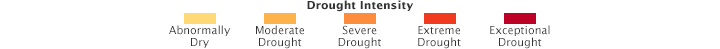 Color bar for Drought Persists in the American Southwest