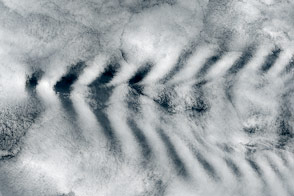 Wave Clouds behind Amsterdam Island