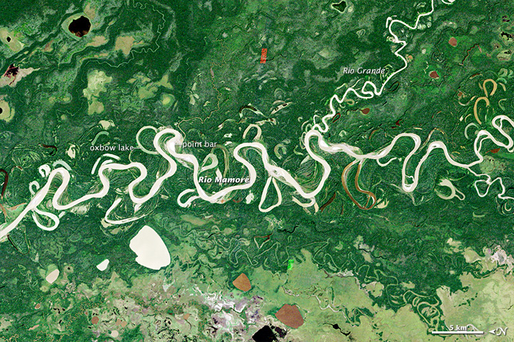 Meandering in the Amazon