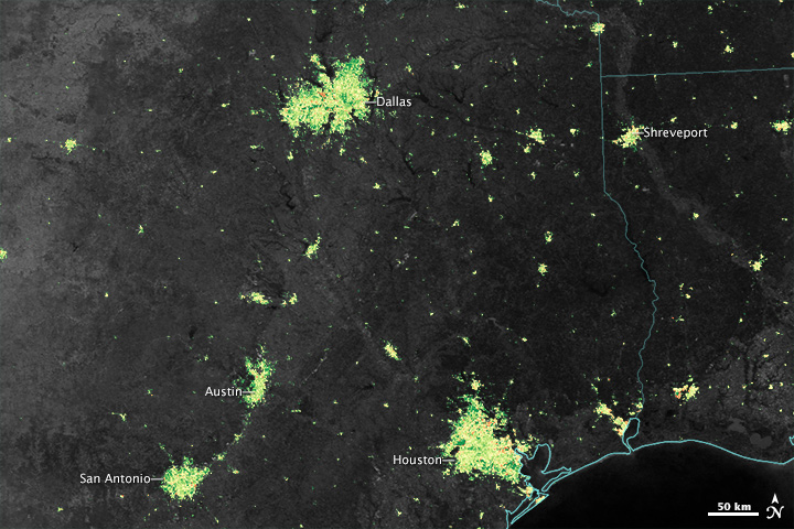 Even from Space, Holidays Shine Brightly
