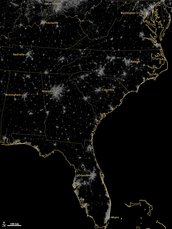 Holiday Lights in the US Southeast