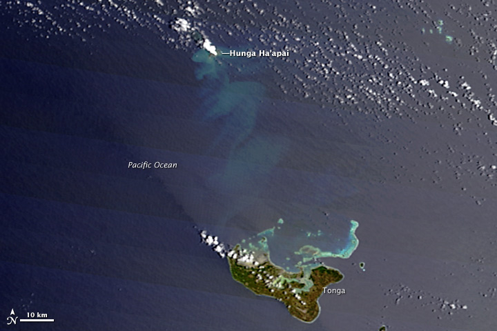 Undersea Eruption Near Tonga