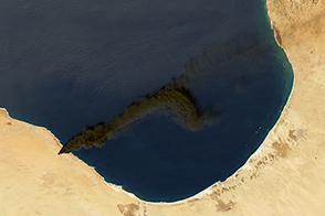 Oil Fire in Libya