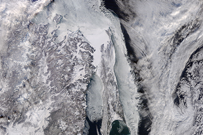Southernmost Seasonal Sea Ice in the Northern Hemisphere