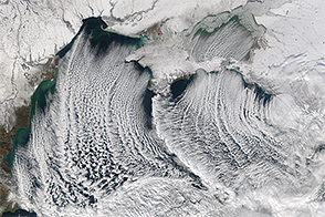Cloud Streets over the Black Sea