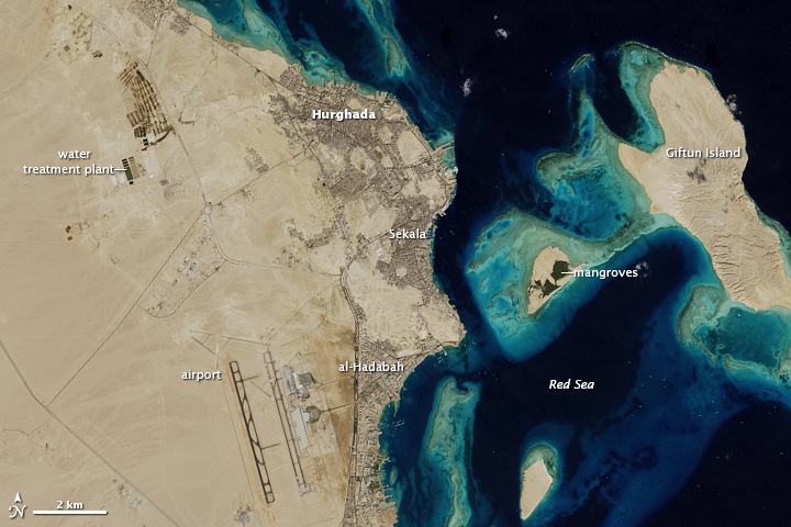 Growth of Hurghada, Egypt