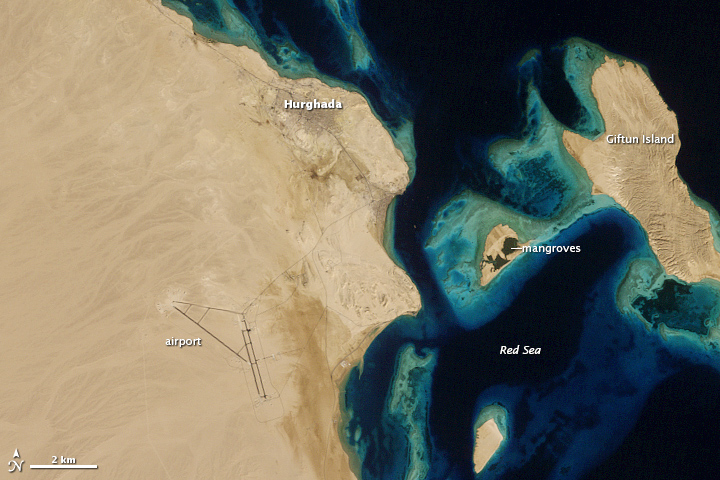 Growth of Hurghada, Egypt