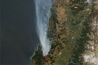 Wildfires in Central Chile