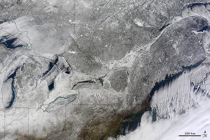 Snow in the Northeastern U.S.