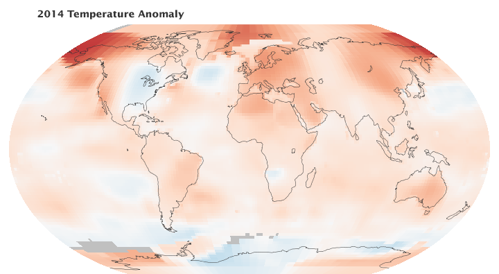 2014 Was the Warmest Year in the Modern Record