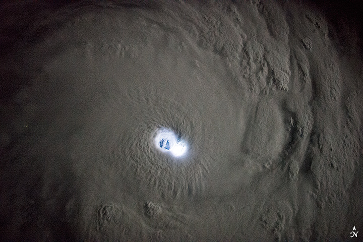 The Electric Eye of Cyclone Bansi
