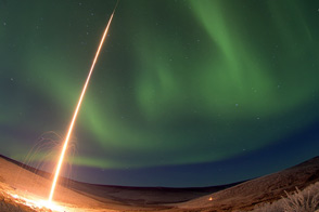 Rocketing into the Northern Lights - selected image