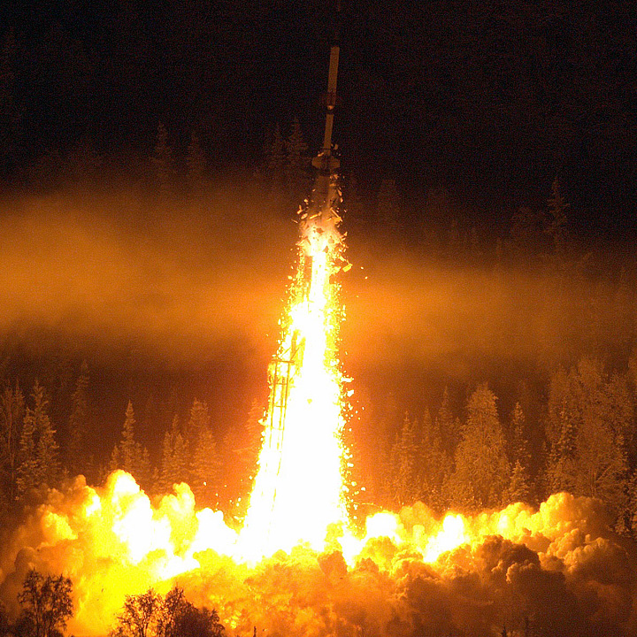Rocketing into the Northern Lights - related image preview
