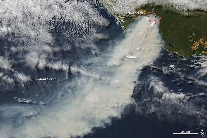 Bushfire in Southwestern Australia