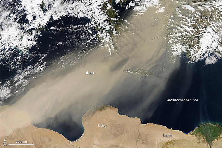 Saharan Dust over the Mediterranean Sea - related image preview