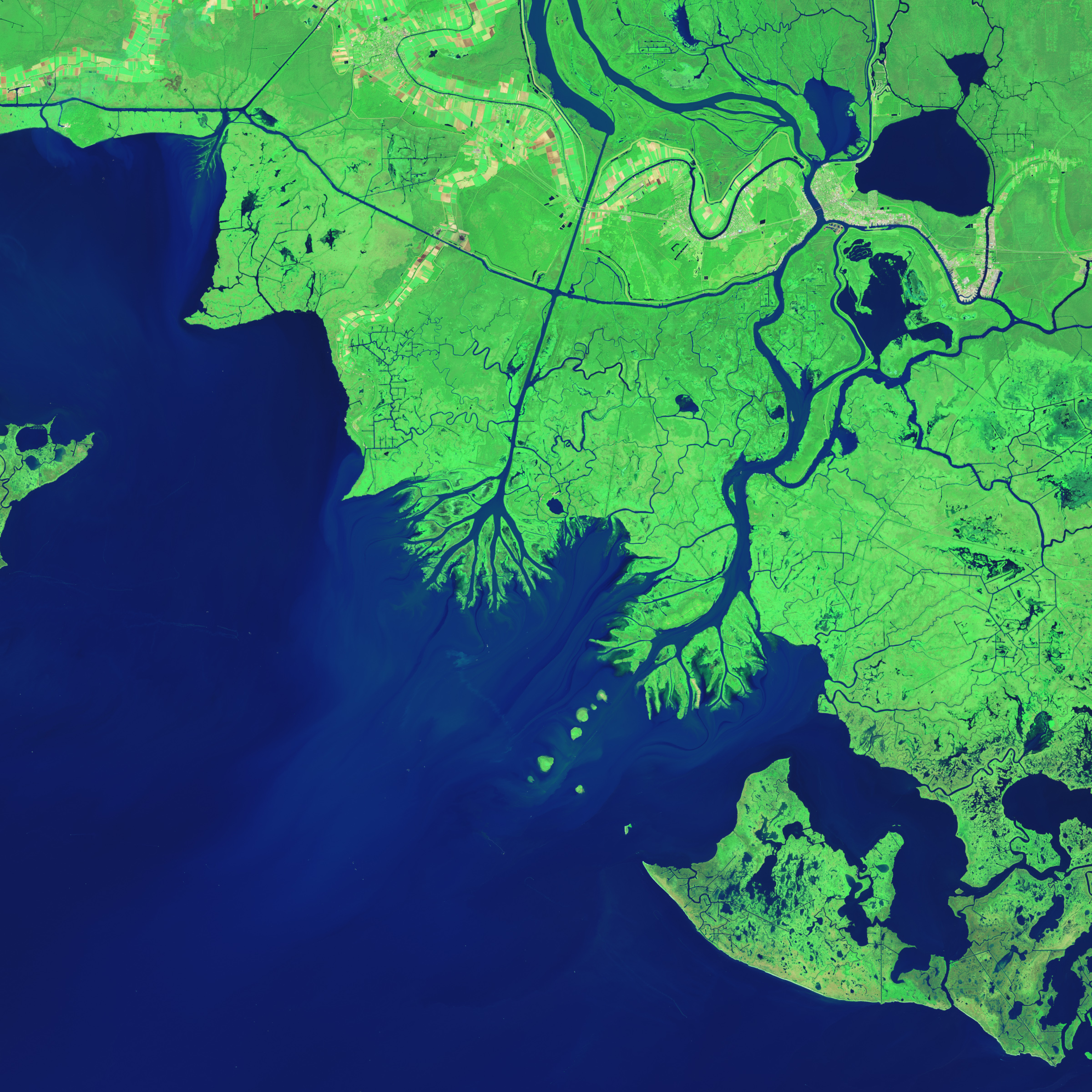 New Land On The Louisiana Coast Image Of The Day - World satellite map 2014