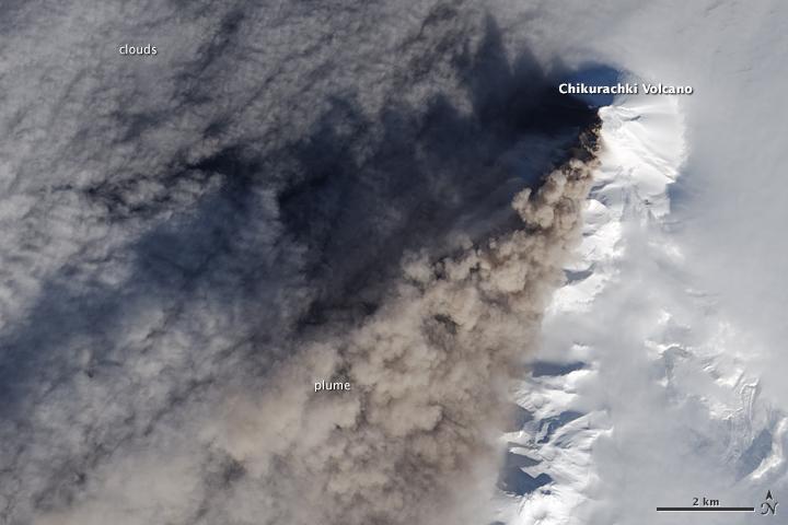 Eruption at Chikurachki