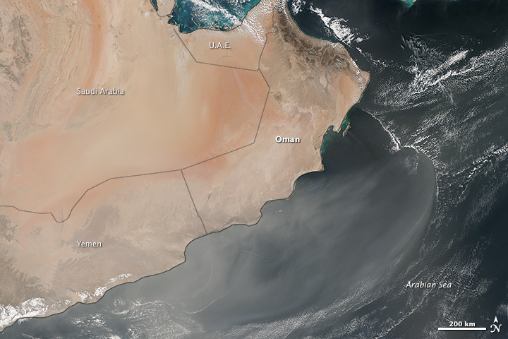 Persistent Dust Storms on the Southern Arabian Peninsula