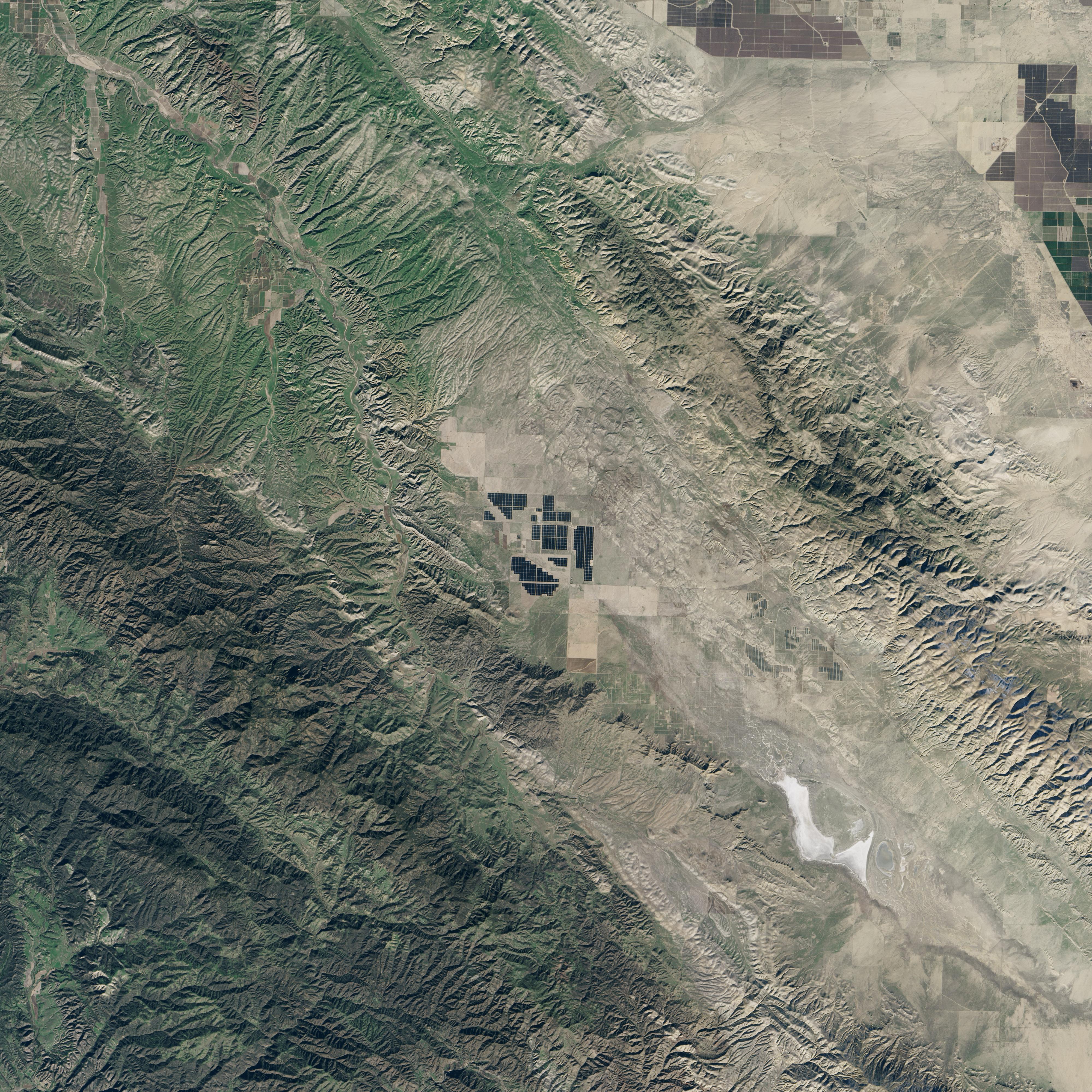 Nasa Visible Earth Topaz Solar Farm California