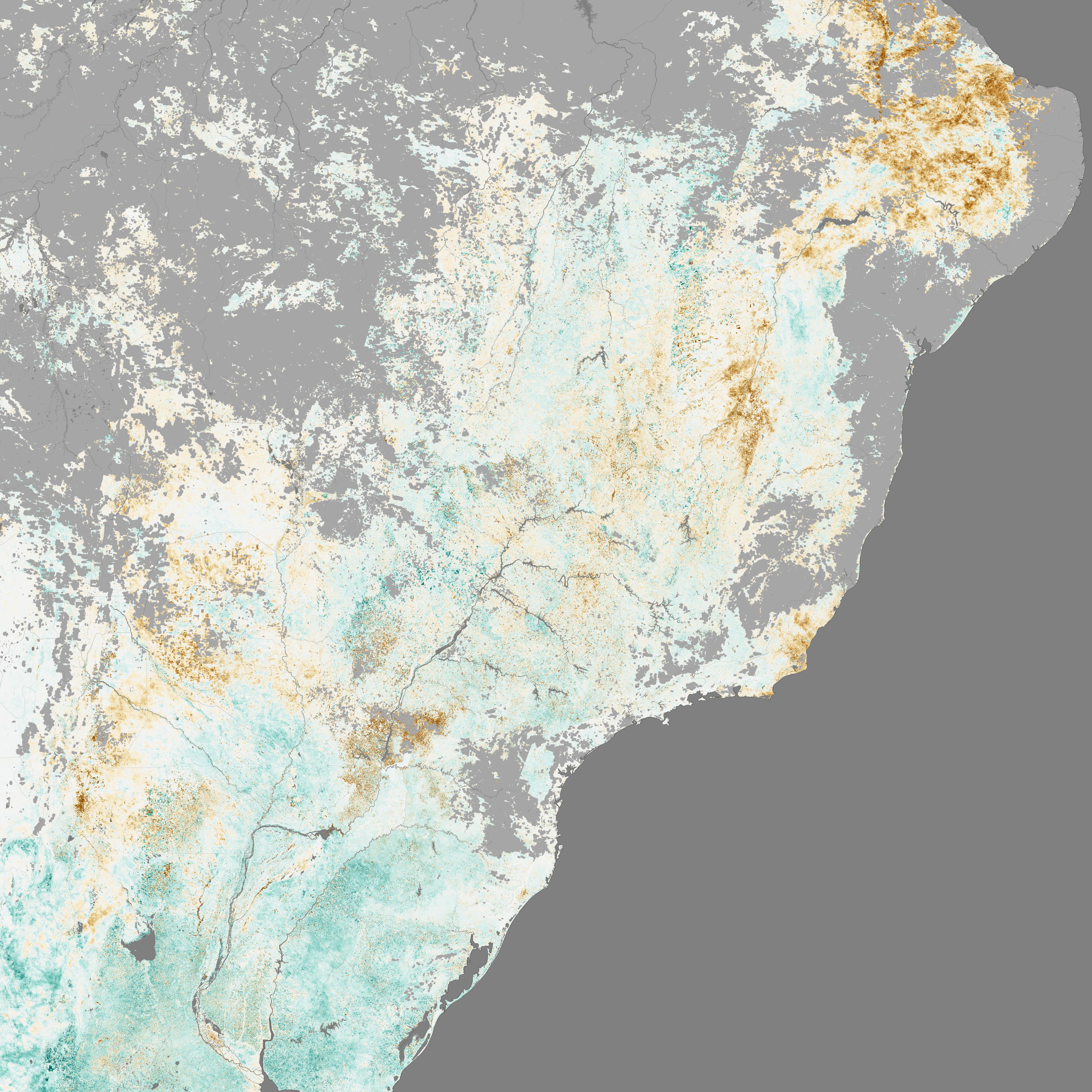 São Paulo vannkrisen Knyttet til Vekst, forurensning og avskoging.
