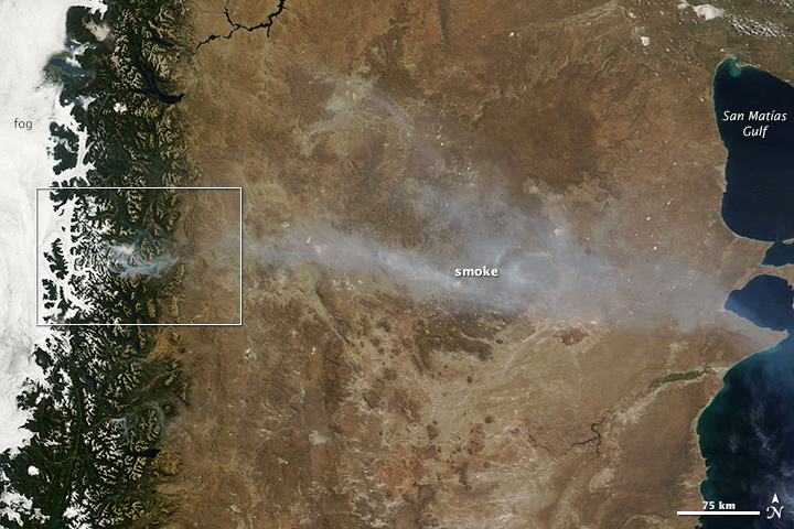 Wildfire in Southern Argentina