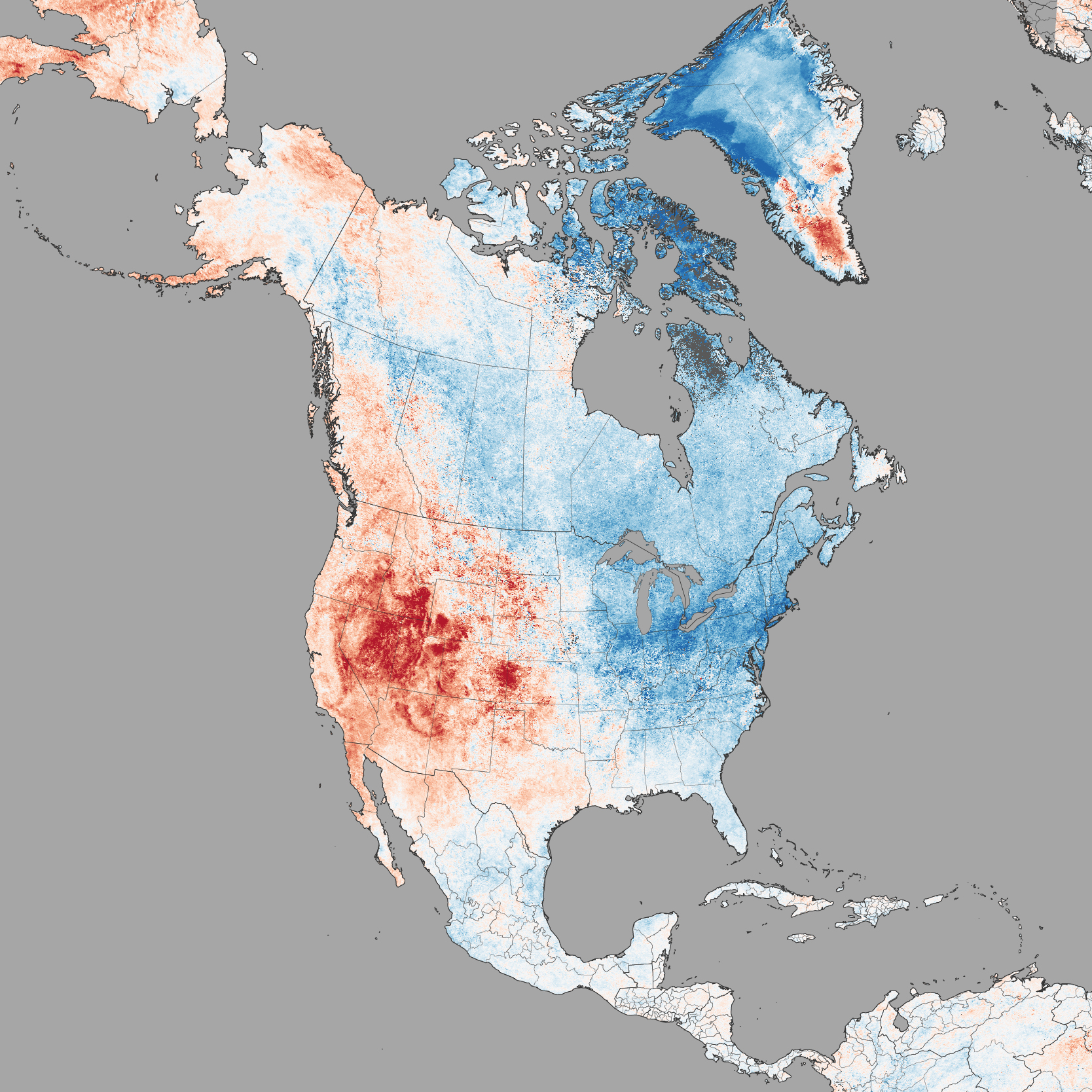 Going Hot And Cold In February  Image Of The Day - North america air temperature map