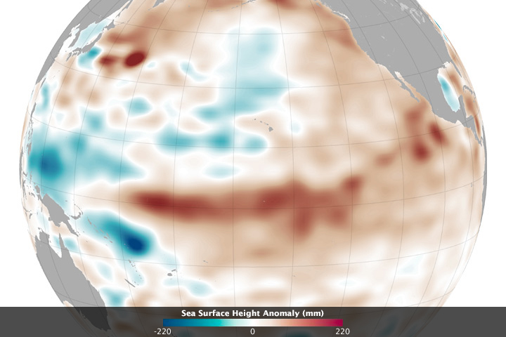 Weak El Niño, but Hints of Pacific Change - related image preview