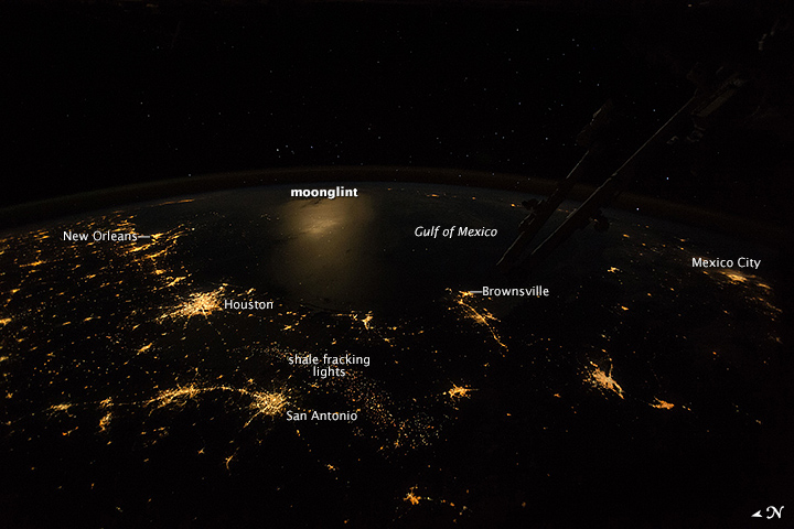 Texas and the Gulf at Night