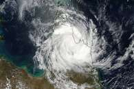 Cyclone Nathan over Cape York Peninsula