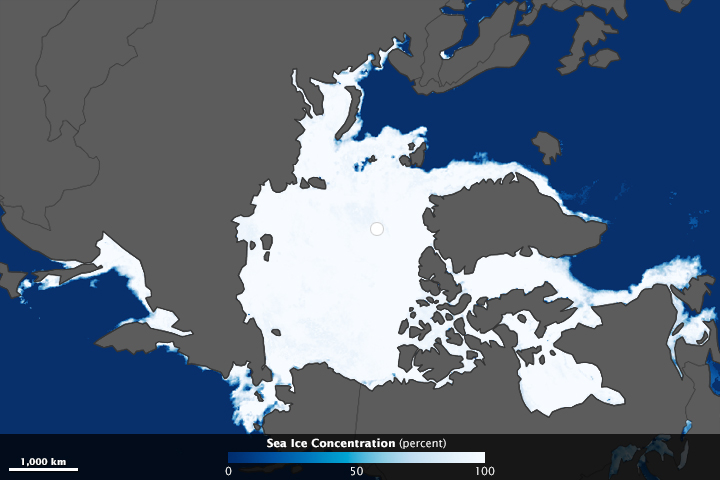 Annual Peak of Arctic Sea Ice is Far Below the Norm - related image preview