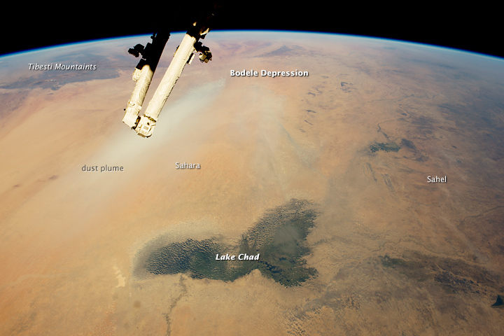 Lake Chad and a Bodele Dust Plume - related image preview