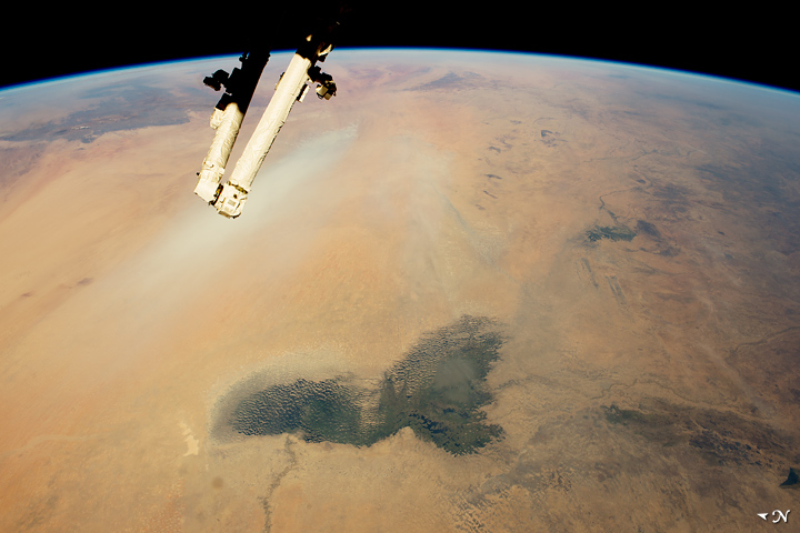 Lake Chad and a Bodele Dust Plume