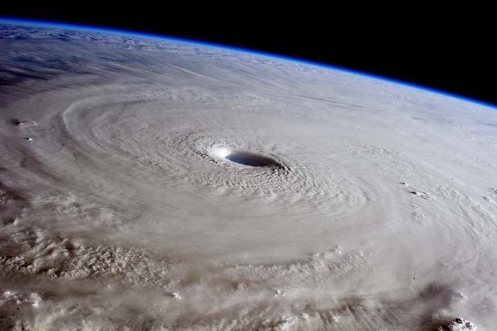 Typhoon Maysak from the International Space Station