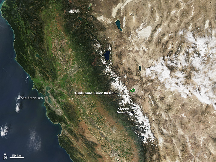 Diminished Snow Pack in the Sierra Nevada