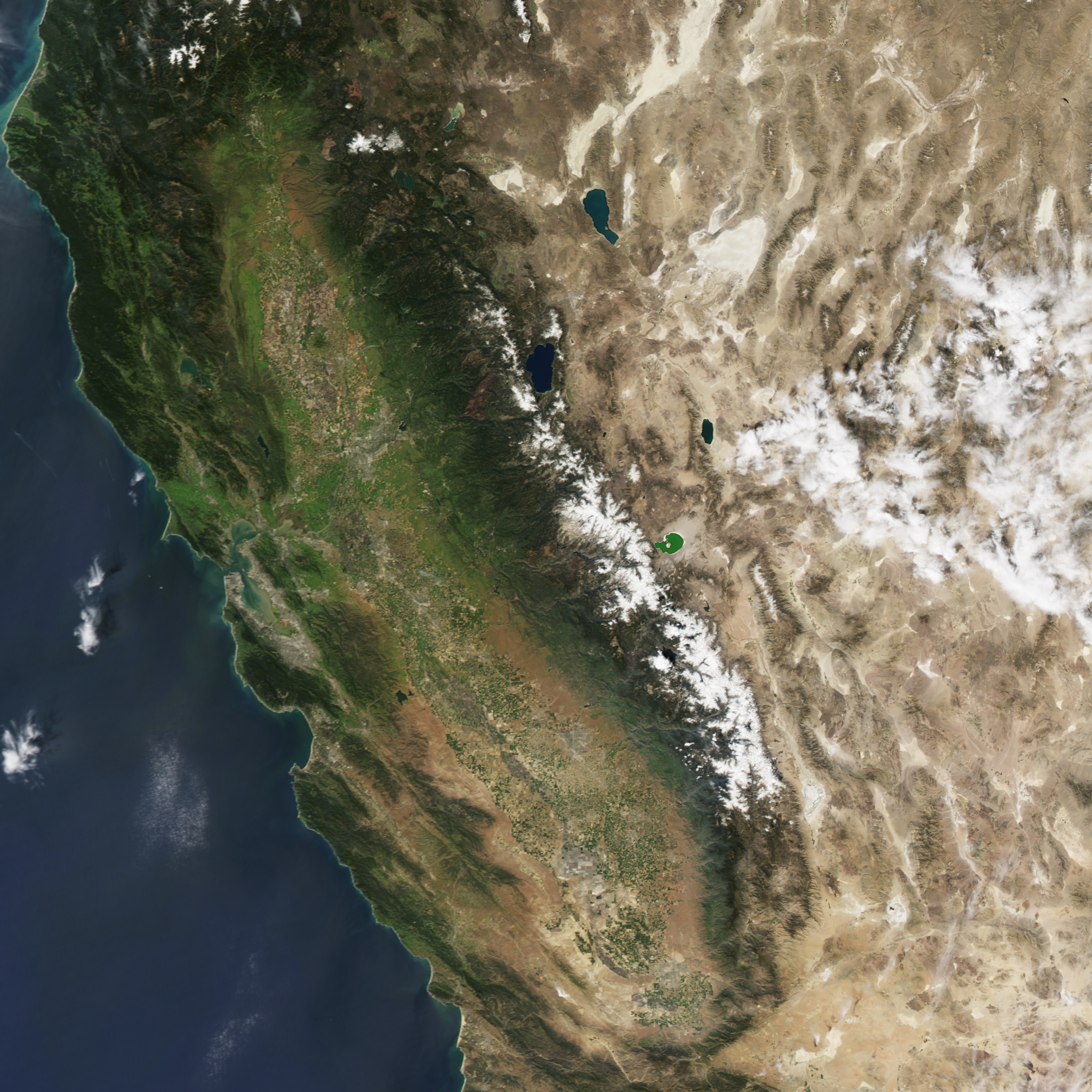 Diminished Snow Pack In The Sierra Nevada Natural Hazards - Us snowpack map
