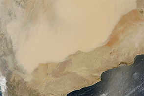 Dust Storm Rolls Across the Arabian Peninsula